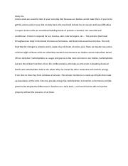 ASSIGNMENT 1 ESSAY- MOLLY HIX