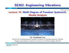 Lecture 15_Multi-Degree of Freedom System(3)-Modal Analysis_180507.pdf