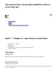 Quiz 7 - Chapter 8 - open book, no time limit: BAD10: American Business in Its Global Context: Secti