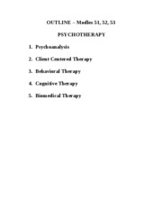 Therapy - Mod 51 52 53