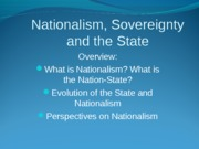 Nationalism and the State