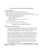 (484015937) Decision Making - lecture notes