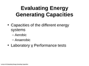 Lecture #6 Eval. Energy System