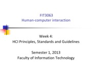 FIT3063-4063 S12013 Lecture 4 - Principles and guidelines