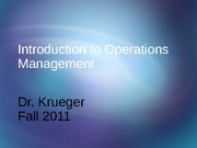 Introduction to Operations Management (1)