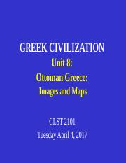 CLST 2101 Unit 8 Ottoman Greece - images and maps