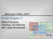 Excel 2007 Chapter 3