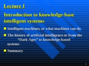 Introduction to knowledge-base intelligent systems