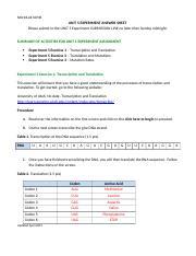 week 2 experiment answer sheet Bi 101 week 7 experiment answer sheet     without natural selection experiment 7 exercise 2.