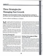 Three Strategies for Managing Fast Growth Article 31