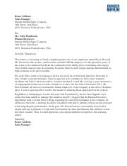 Renee Gibbons Letter of Complaint-Writing Assignment #4