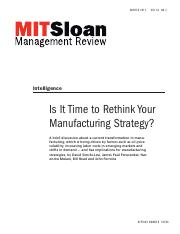Is it time to rethink your manufacturing strategy - Semchi-Levi-2012