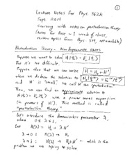 Phys 362k fall 2014 lecture notes 2