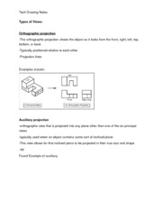 Technical Drawing_ProjectionNotes