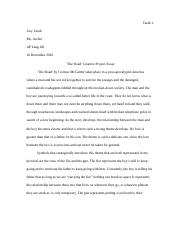 'The Road' Creative Project Essay.docx