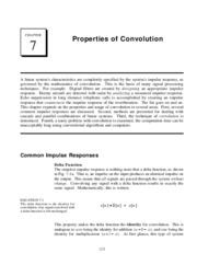 CH7 - Properties of Convolution