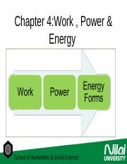 chapter 4- work and energy