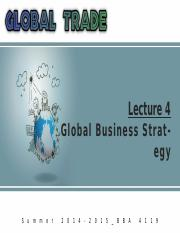 Summer '15_Global Trade_Lecture 4
