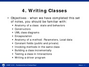 Spring 2015 Lecture 04 Writing Classes