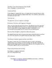 Hca 240 cancer patient information