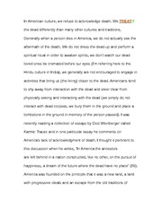 Essay on Character death in beetlejuice