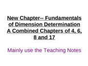 New Chapter17-- Fundamentals of Dimension Determination