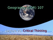 GGR107 lecture 2a&b