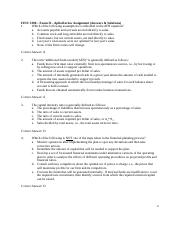 FINC 3380 - Exam II - Aplia Review Assignment (Answers & Solutions)