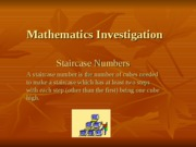 Mathematics Investigation