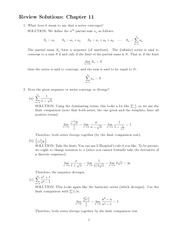 Series and Sequence Problem Set Solution