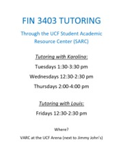 SARC Tutoring Fall 2013