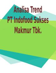 Analisa Trend PT Indofood