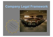 Company 1 - Legal Framework 2014-15