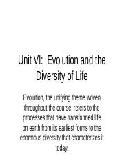 Unit VI- Evolution and the Diversity of Life.ppt.pptx