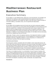 Mediterranean Restaurant Business Plan.docx