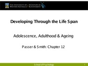 L6 Adolescence, Adulthood and Ageing