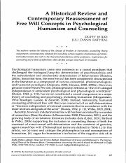 ontemporary Reassessment of free will.pdf