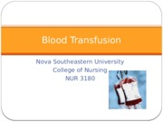 Blood Transfusion S 14