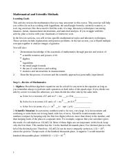 Lesson 01 Activity - Mathematical and Scientific Methods.docx