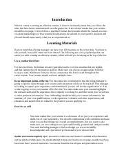 Curriculum Vitae Role
