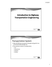 Introduction to Transportation