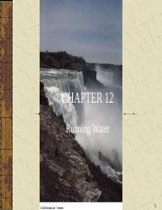 CH 12-RUNNING WATER.ppt