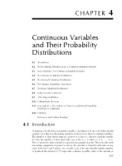 Chapter 4 Continuous Variables and Their Probability Distributions