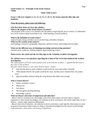Exam 1 Study Guide Fall 2015