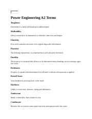 Power Engineering A2 Terms.docx