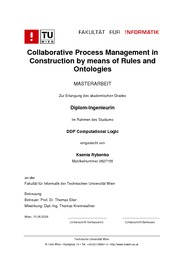 Collaborative Process Management in Construction by Means of Rules and Ontologies