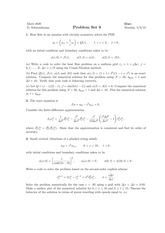 Numerical Methods for Differential Equations Homework 9