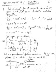 ELEC 300 Assignment 5 Solutions