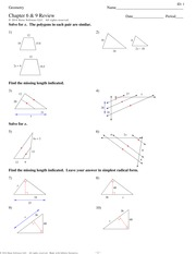 how to find the missing length of two similar triangles