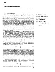 Feynman Physics Lectures V2 Ch18 1962-11-29 Maxwells Equations